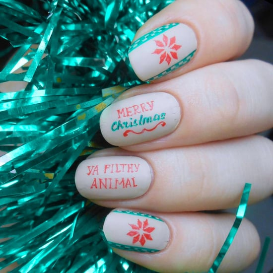 Christmas-Film-Inspired Nail Art