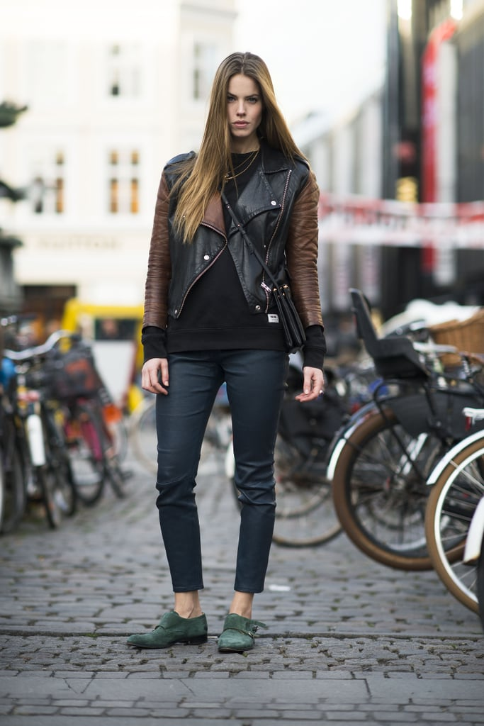 Counter your tough-girl ensemble with some smart footwear. Source: Le 21ème | Adam Katz Sinding
