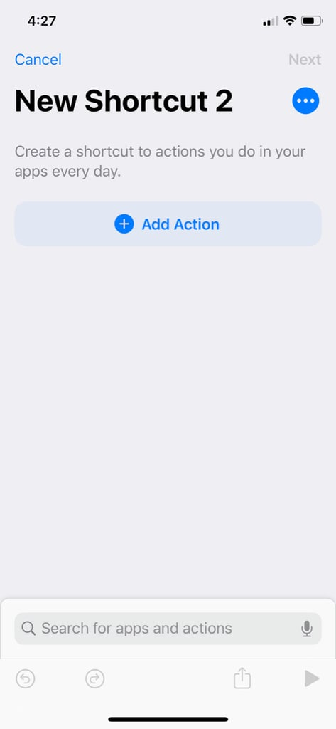 """Select the """"Add Action"""" Button"""