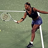 Serena Williams Wearing a Denim Skirt at the US Open in 2004