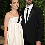 Natalie Portman and Benjamin Millepied attended the Vanity Fair Oscars bash.