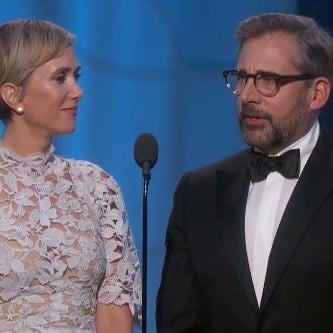 Kristen Wiig and Steve Carrell Speech at 2017 Golden Globes