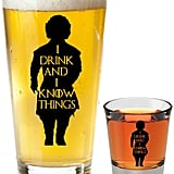I Drink and I Know Things Beer Glass With Shot Glass