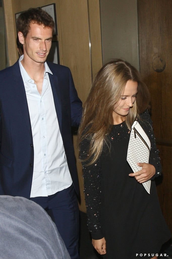 Andy Murray celebrated his Wimbledon win with a dinner in London.