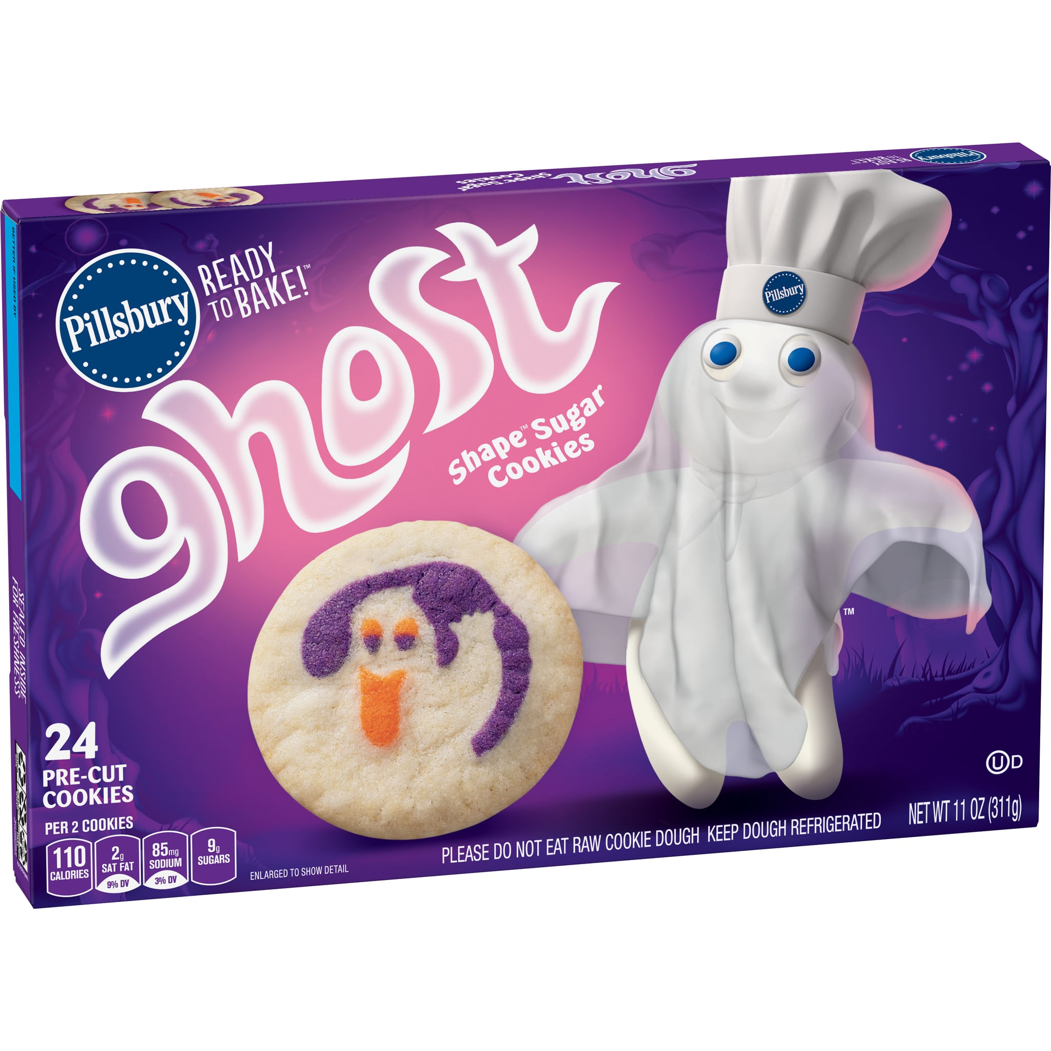 Pillsbury Is Bringing Back Its Adorable Ready-Bake Ghost Sugar Cookies For Halloween!