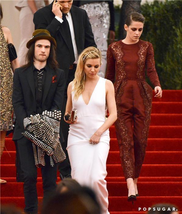 Kristen Stewart, Sienna Miller, and Tom Sturridge at the Met Gala 2013.