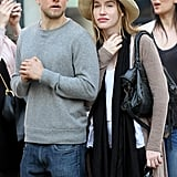 They cozied up during a stroll through NYC in April 2016.