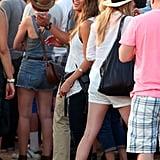 Cash and Jessica took in the Coachella scene in Indio, CA, in April 2013.