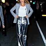 Bella Hadid With Bright Blond Hair at New York Fashion Week, Fall 2019