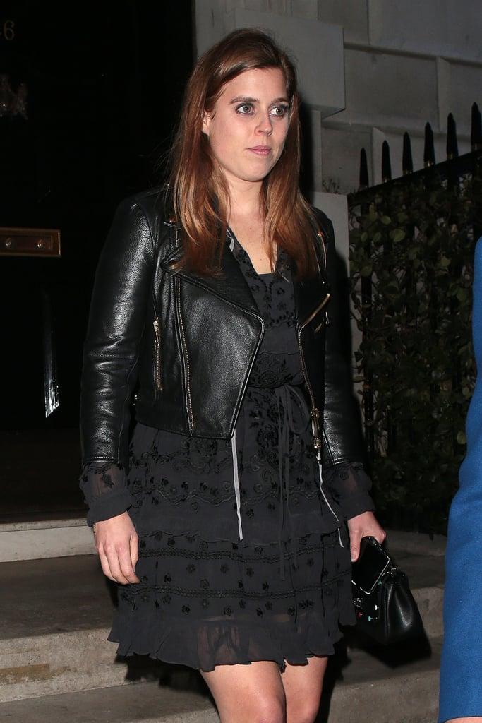 Princess Beatrice's Black Leather Jacket