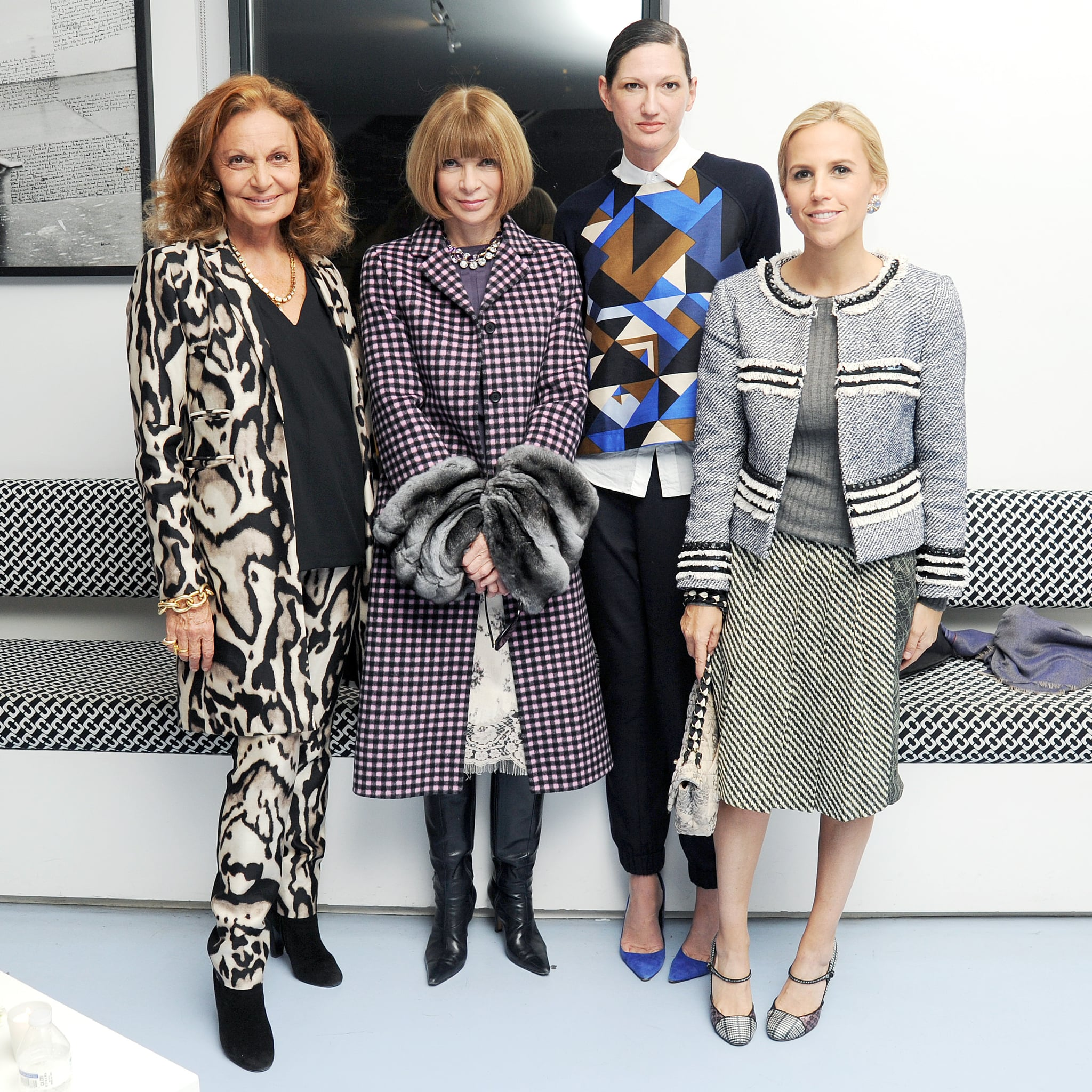 Diane von Furstenberg, Anna Wintour, Jenna Lyons, and Tory Burch at the Bornfree campaign press announcement.