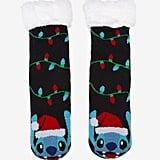 Disney Lilo & Stitch Santa Stitch Slipper Socks