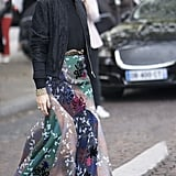 Olivia Palermo wearing Roland Mouret at Paris Fashion Week