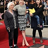 Scarlett Johansson was joined by her family at the induction ceremony.