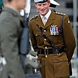 Prince Harry helped to open a new center at the Royal Marines Tamar naval base in Devonport, England.