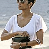Halle Berry's engagement ring was on display during a shopping trip in LA.