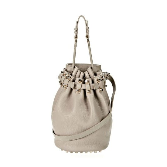 "This year I want to switch up my day bag and try my hand at a new shape — the drawstring bucket Diego by Alexander Wang. I've wanted it for months and I'm pretty sure I've dropped enough hints for my husband to ""surprise"" me! — Marisa, publisher Bag, approx $858, Alexander Wang"