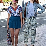 Friends who wear printed separates together achieve street-styling greatness together.