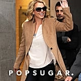 Britney Spears waved to a crowd of fans.