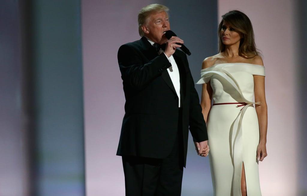 فستان ميلانيا ترامب هرفيه بيير التنصيب الرئاسي 2017