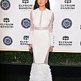 Chrissy Teigen wowed in Jonathan Simkhai at the Art of Elysium gala.