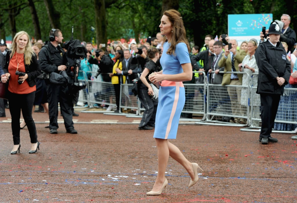 Kate Also Wore Neutral Accessories, Which Toned Down the Colorful Look