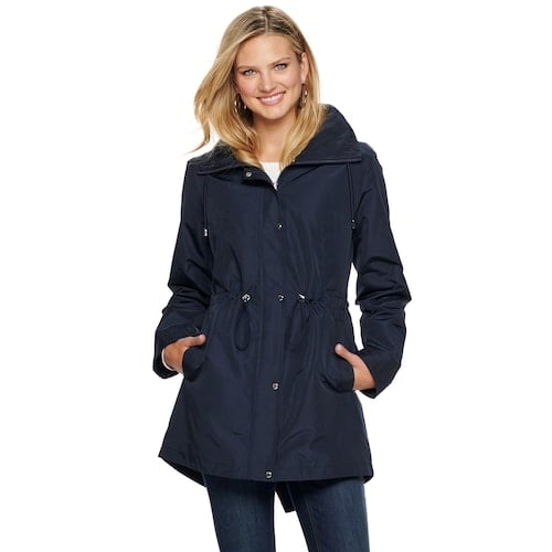 Nine West Hooded Anorak Rain Parka