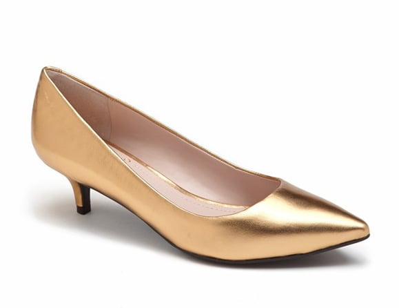 Vince Camuto gold metallic kitten heels ($60, originally $89)