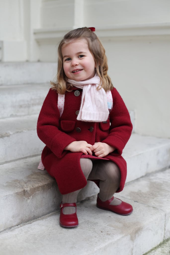 Princess Charlotte hit a major milestone on Monday: she attended her first day of school at Willcocks Nursery School. Kensington Palace released two adorable images of the 2-year-old heading off to school that same morning, and we were immediately reminded of when Prince George attended his first day of school at Westacre Montessori School back in 2016. Even though both occasions were equally adorable, we did notice a couple of differences.      Related:                                                                                                           19 Kate Middleton Mom Moments That Will Melt Your Heart               For starters, Charlotte marked her big day in a red wool coat and a pink scarf, while George kept things a little more casual in a blue puffer coat and a matching backpack. The setting of the photos was also different; Charlotte posed for her portraits outside of Kensington Palace and George took his in front of a a mural outside of his school. Oh, and if the backdrop of Charlotte's photos looks familiar, that's because it's the same place where George posed with Prince William ahead of his first day at his new school, Thomas's Battersea School, this past September. Oh, how time flies!