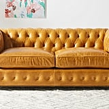 Leather Dulcimer Petite Chesterfield Sofa