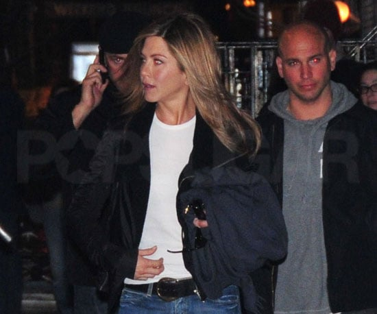 Photo of Jennifer Aniston Leaving the NYC Set of The Baster