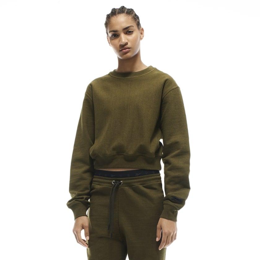 Reebok x VB Cropped Sweatshirt — Green