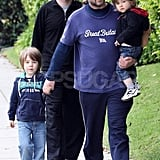 Russell Crowe in LA With His Boys