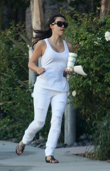 Kim runs around
