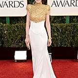 Michelle Dockery's dress was designed by Alexandre Vauthier.