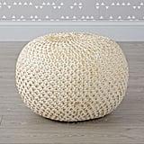 Luna Lovegood: Knit Gold Pouf
