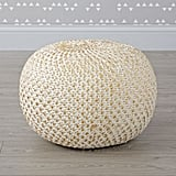 Luna Lovegood: Nuloom Hand Knitted Cotton Twisted Casual Living Disco Cables Pouf