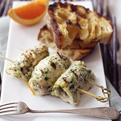 Fast & Easy Dinner: Skewered Swordfish Rolls