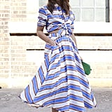 A twirly two-piece in bold stripes