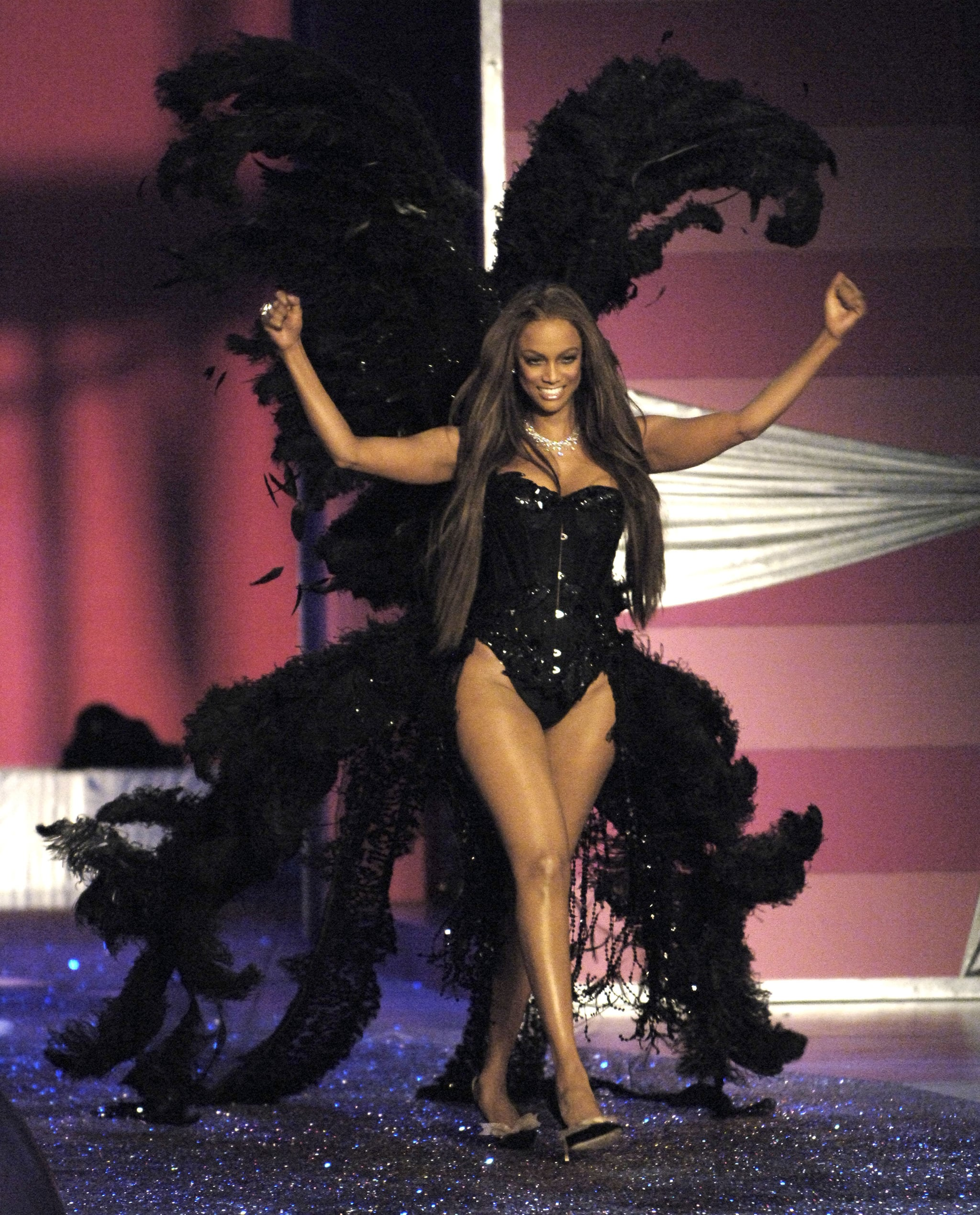Tyra Banks On The Runway: Tyra Took Her Final Stroll Down The Victoria's Secret