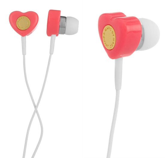 Marc by Marc Jacobs heart-shaped earbuds ($40)
