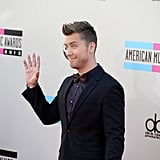 Lance Bass waved to the cameras.