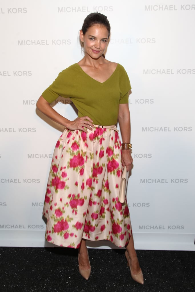 Katie Holmes wore a Michael Kors outfit.