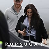 Prince Harry and Meghan Markle at Airport in Canada Pictures