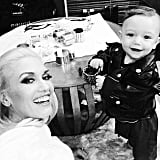In 2014, Gwen snapped a photo backstage with Apollo on the set of The Voice.
