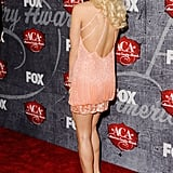Carrie Underwood showed off the back of her dress.