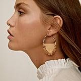 Mango Handmade leather earrings