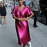 Tracee Wore a Sparkly Pink Dress From Her Upcoming JCPenney Collection