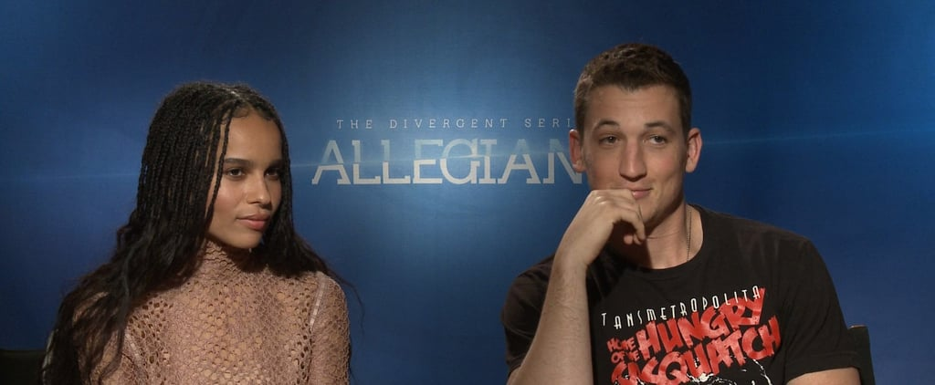 "Miles Teller on Filming Allegiant With Zoë Kravitz: ""I Just Fall More in Love With Her"""