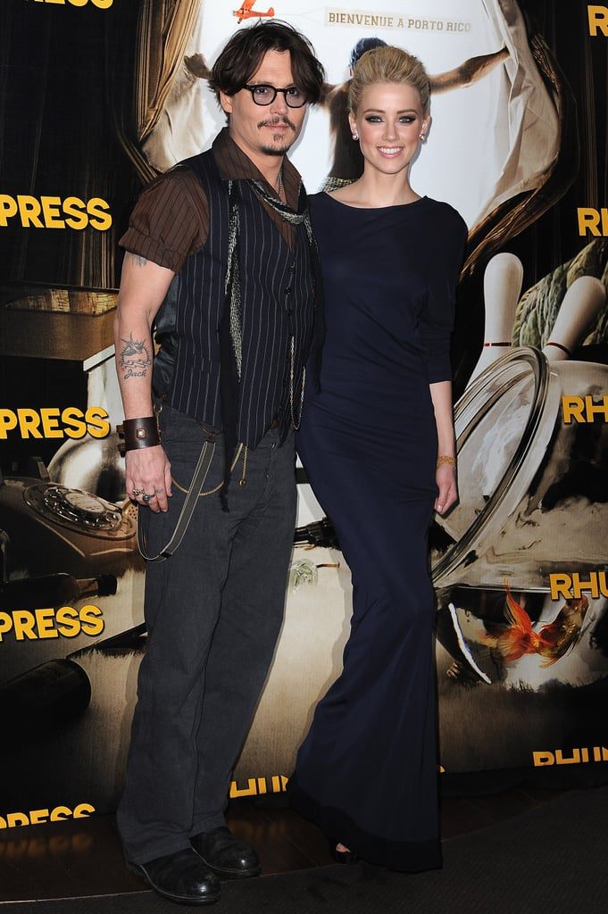 Johnny Depp and Amber Heard at a screening of The Rum Diary.